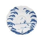 Country Estate Saucer Garden Follies Delft Blue