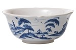 Country Estate Cereal/Ice Cream Bowl Hen House Delft Blue