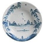 Country Estate Lg Serving Bowl Kite Fliers Delft Blue