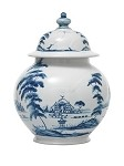 Country Estate Md Lidded Ginger Jar Delft Blue