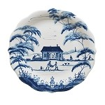 Country Estate Party Plates Set/4  Delft Blue