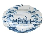 Country Estate Lg Serving Platter Main House Delft Blue