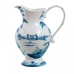 Country Estate Lg Footed Pitcher Delft Blue