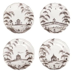 Country Estate Cocktail Plates set/4