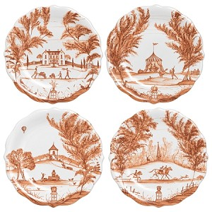 Country Estate Autumnal Party Plates set/4