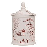 Country Estate Cookie Jar Winter Frolic