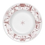 Country Estate Dessert/Salad Plate Winter Frolic Ruby