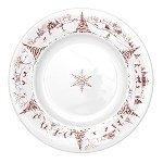 Country Estate Dinner Plate Winter Frolic Ruby