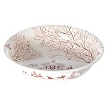 Country Estate Md Serving Bowl Winter Frolic, Forest Creature Frolic Ruby