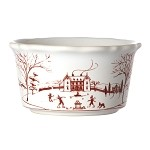 Country Estate Ramekin Winter Frolic Ruby