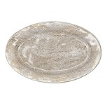 Firenze Marbleized Medici Serving Platter Gold/Platinum