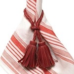 Juliska Ruby Tassel Napkin RIng
