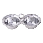 Berry and Thread Metalware Double Bowl Server
