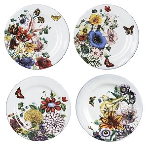Field of Flowers  Set/4 Lunch Party Plates
