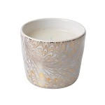 Firenze Marbleized Medici Candle Gold/Platinum
