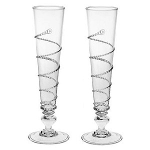 Pair of Amalia Flutes Clear, Gift Boxed