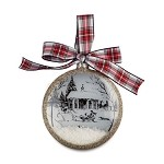 Winter Stable Holiday Ornament