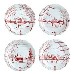 Country Estate Holiday Party Plates