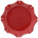 Berry and Thread Ruby Scallop Charger