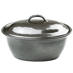 Pewter Large Covered Casserole