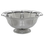 Berry and Thread Metalware Footed Bowl