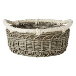 Waveney Wicker Md Basket Grey Wash