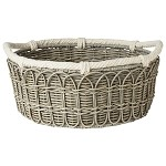 Waveney Wicker Lg Basket Grey Wash