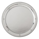 Berry and Thread Metalware Round Tray Bright Satin