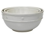 Berry and Thread Mixing Bowls Set/3 Whitewash