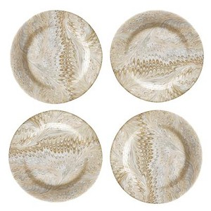Firenze Marbleized Cocktail Plates Set/4 Neutral
