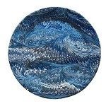 Firenze Marbleized Charger/Server Plate Delft Blue