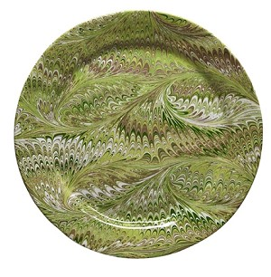 Firenze Marbleized Charger/Server Plate Fern Green