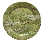 Firenze Marbleized Charger/Server Plate Pistachio