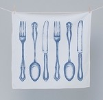 MED Blue Cutlery Tea Towel