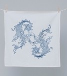Blue Flourish Napkin by Cake Vintage