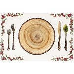 Cranberry Settings Paper Placemats