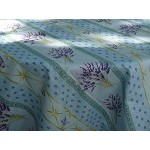 Lavender Design Coated Tablecloth