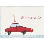 Car with Candle w/Envelope