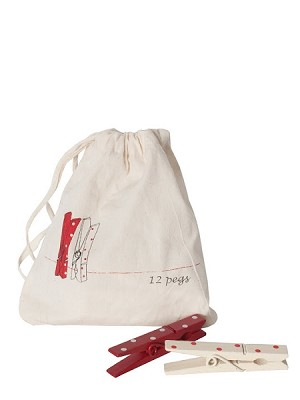 Christmas Pegs in a Bag