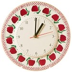 Apple Kitchen Clock
