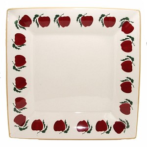 Apple Large Square Plate
