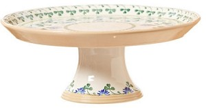 "Clover Footed 11"" Cake Plate"