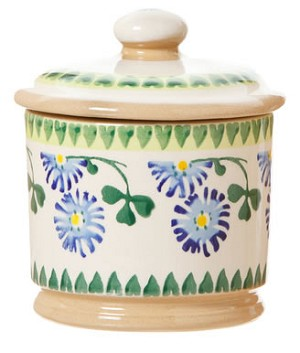 Clover Lidded Sugar Pot