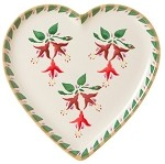 Fuchsia Heart Shaped Plate