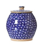 Lawn Dark Blue Cookie Jar