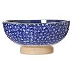 Lawn Pattern Blue Veg Bowl