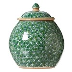 Lawn Pattern Green Cookie Jar