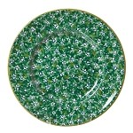 Lawn Pattern Green Lunch Plate