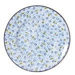 Lawn Pattern Light Blue Lunch Plate