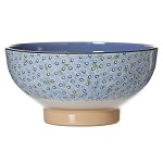 Lawn Pattern Lt Blue Veg Bowl